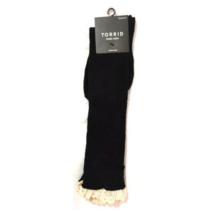 torrid Accessories - Torrid Boot Socks Knee High Crochet Lace Black